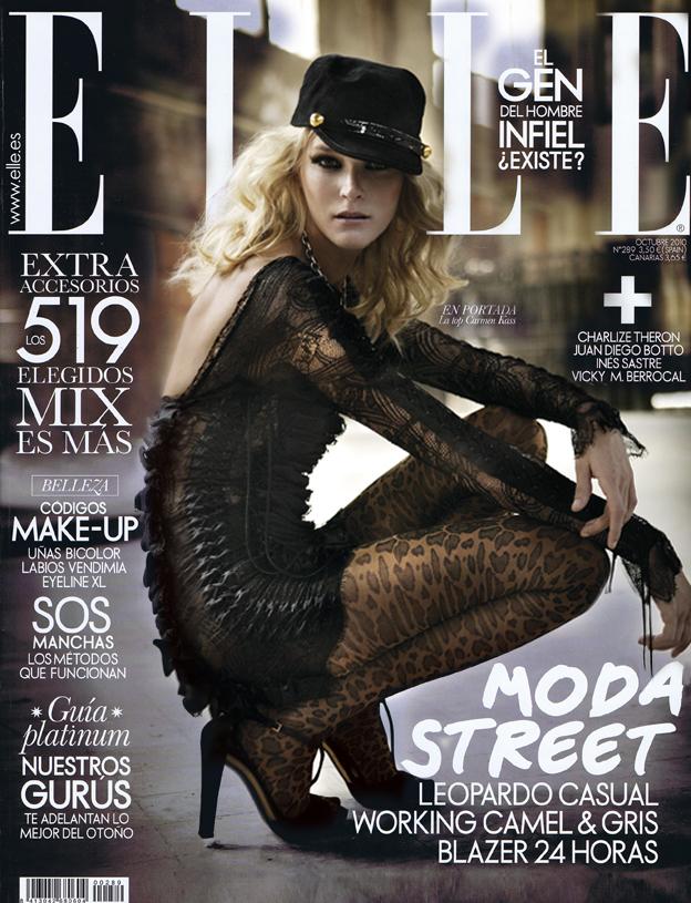 Elle Spain October 2010 Cover   Carmen Kass by Mario Sierra