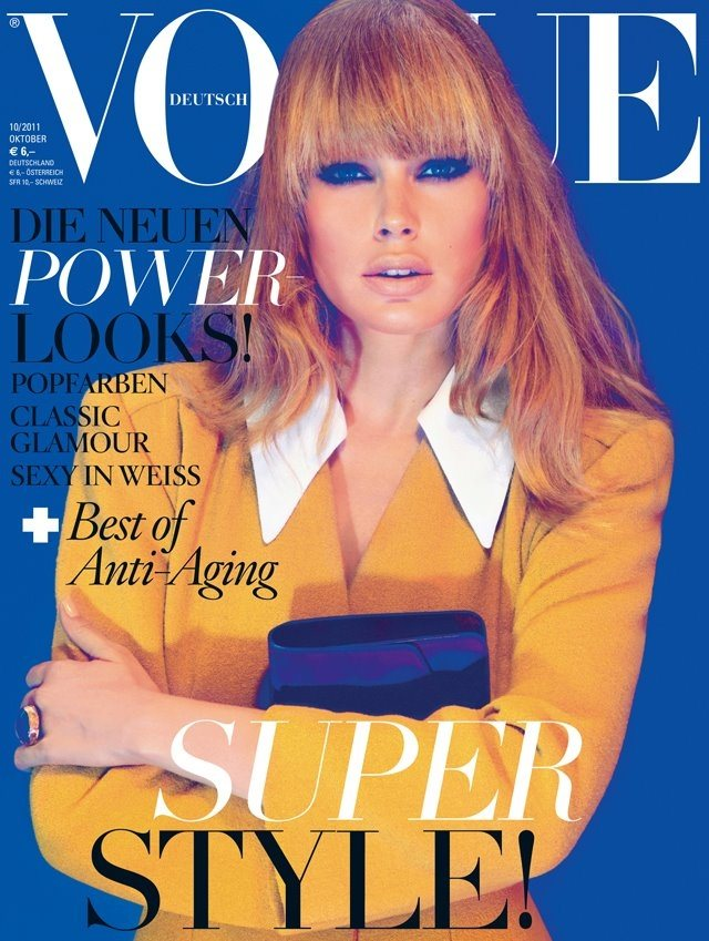 Doutzen Kroes Covers Vogue Germany October 2011 in Miu Miu