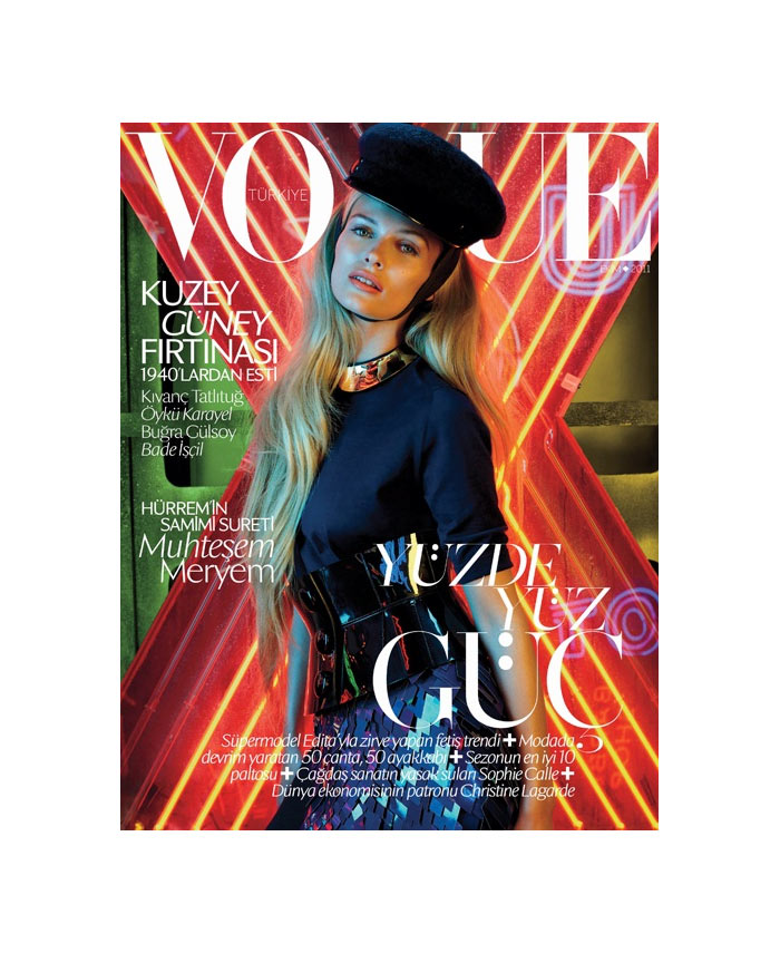 Vogue Turkey October 2011 Cover | Edita Vilkeviciute by Emma Summerton