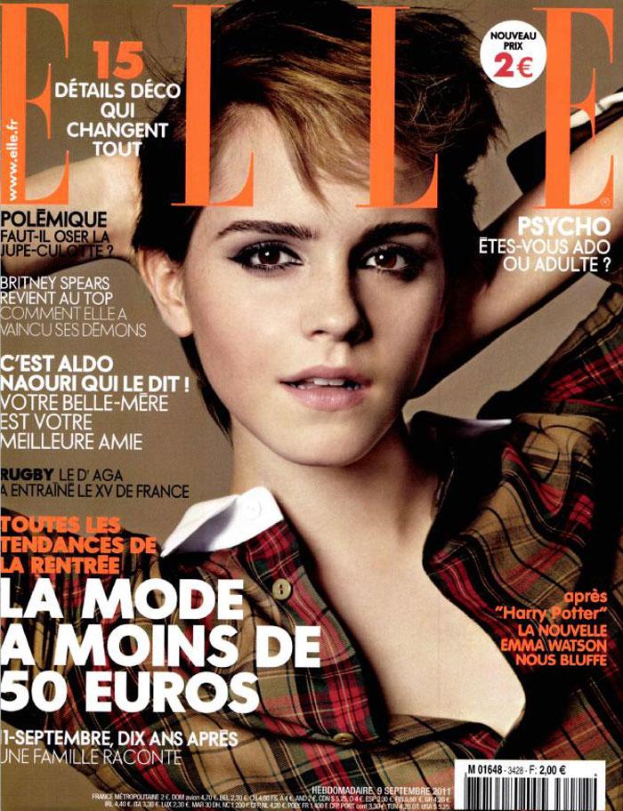 Emma Watson Covers Elle France September 9th, 2011