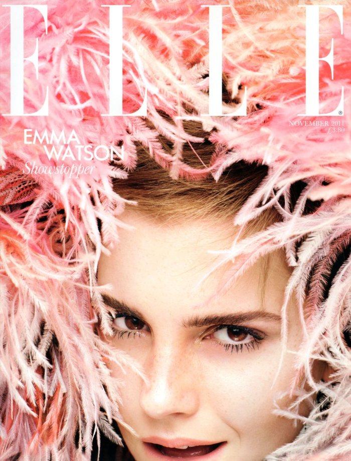Emma Watson Covers Elle UK November 2011 by Rankin