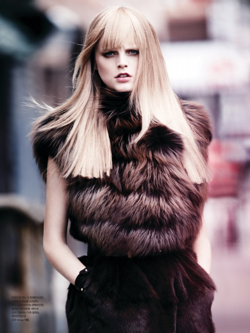 Hanne Gaby Odiele by Dean Isidro for Harper's Bazaar Korea October 2011