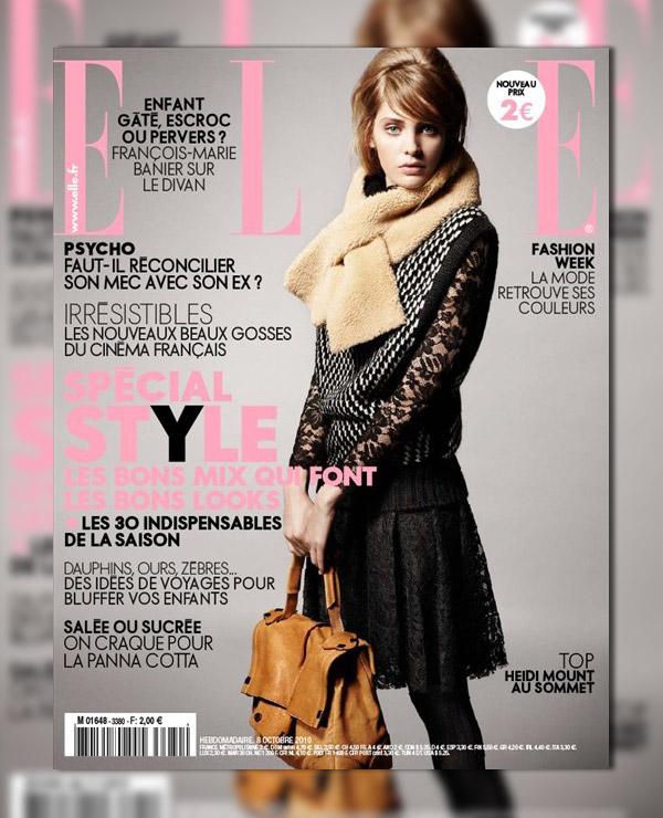 Elle France October 8, 2010 Cover | Heidi Mount