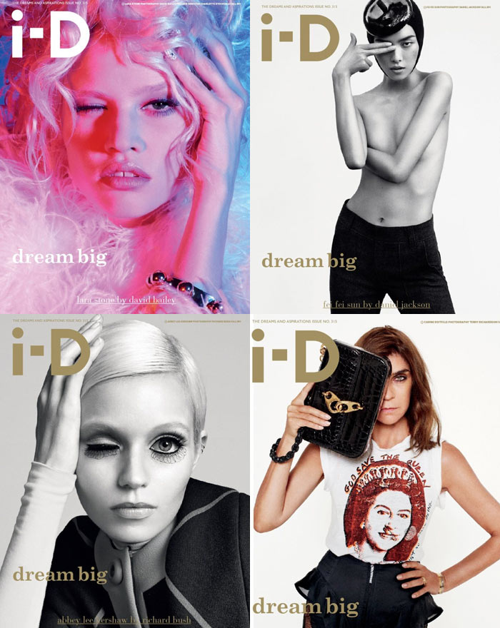 Lara Stone, Abbey Lee Kershaw, Fei Fei Sun & Carine Roitfeld Cover i-D Fall 2011