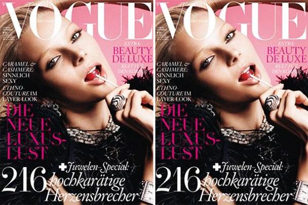 Vogue Germany November 2010 Cover | Ieva Laguna by Greg Kadel