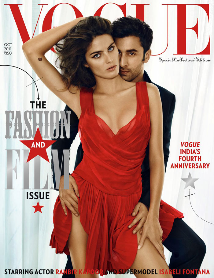 Vogue India October 2011 Cover | Isabeli Fontana by Marc Hom