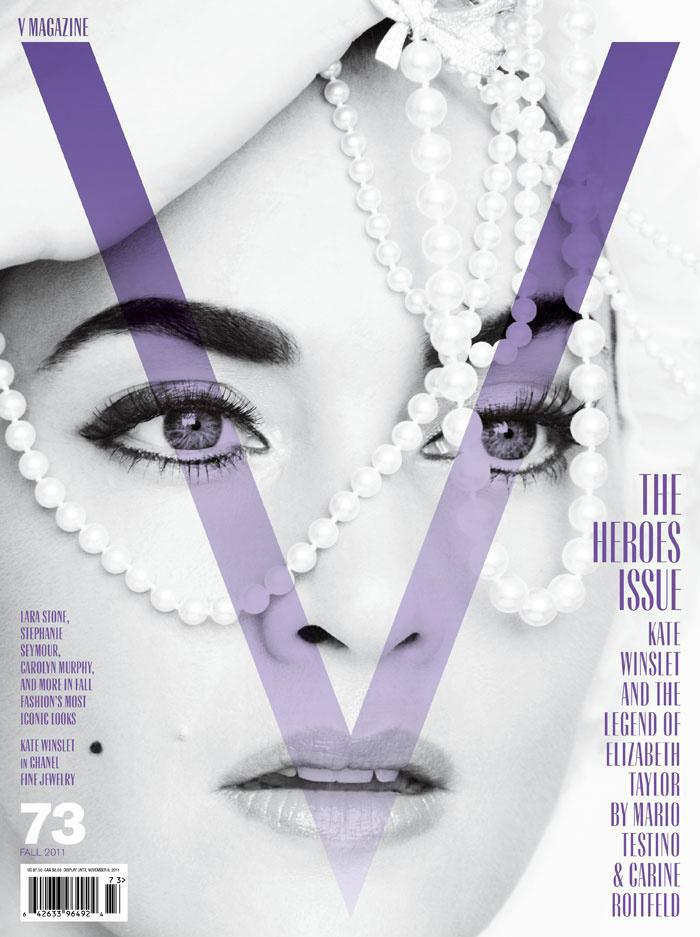 V Magazine #73 Cover | Kate Winslet by Mario Testino