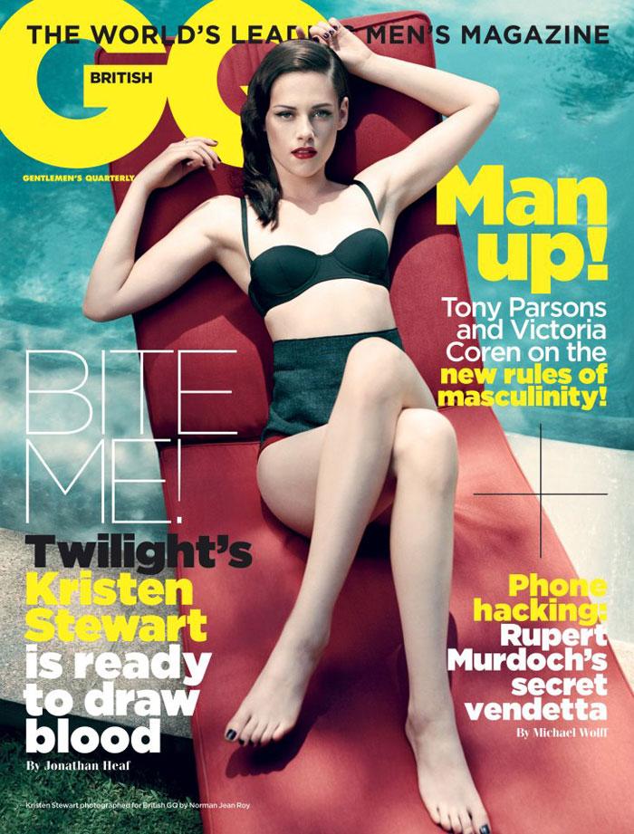 Kristen Stewart Covers GQ UK November 2011 by Norman Jean Roy