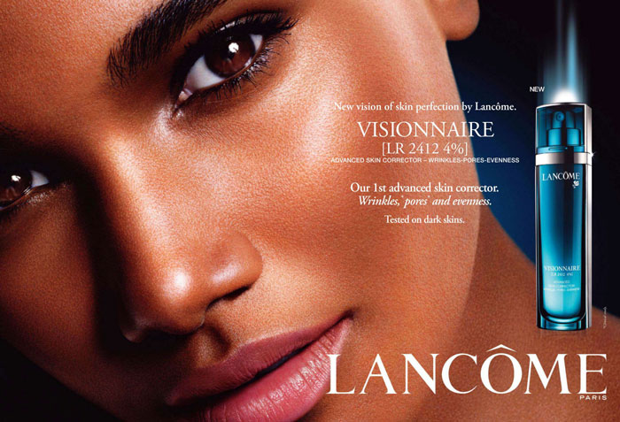"""Arlenis Sosa for Lancome """"Visionnaire"""" Campaign"""