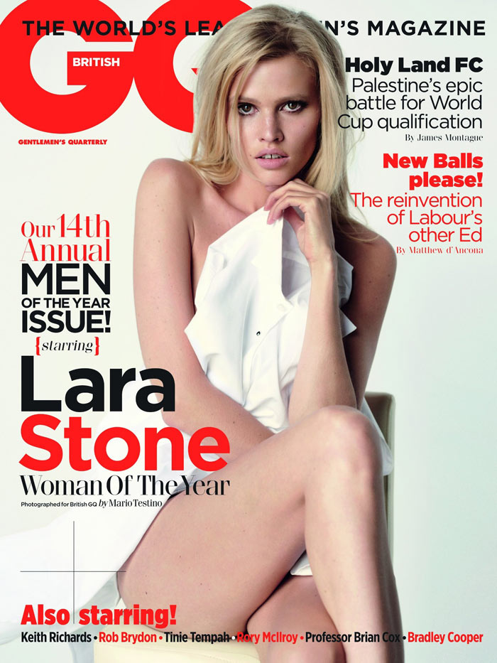 Lara Stone for GQ UK October 2011 by Mario Testino (Cover)
