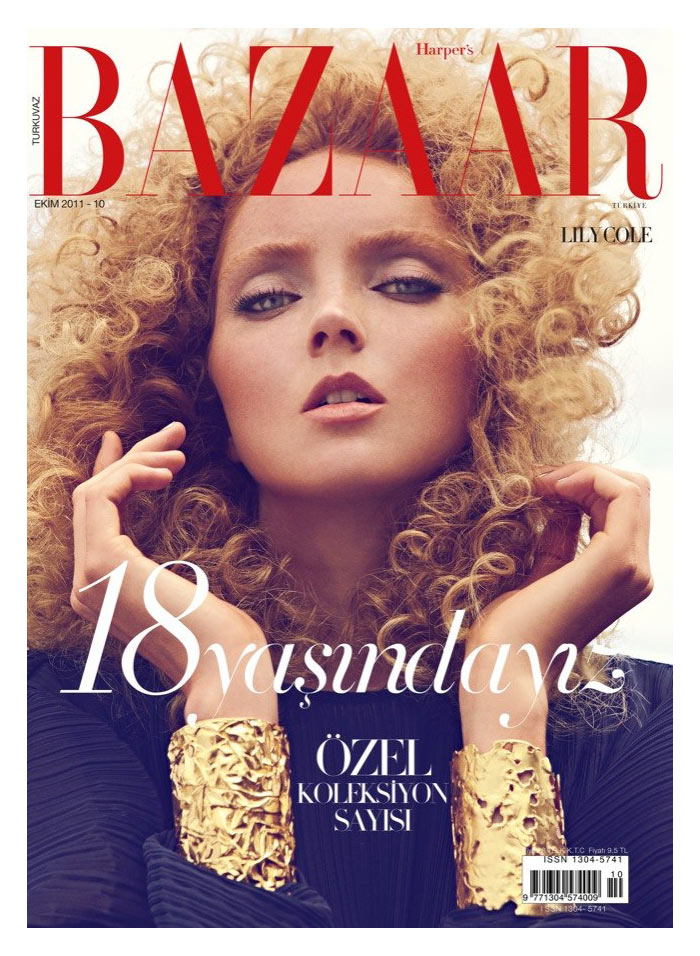 Harper's Bazaar Turkey October 2011 Cover | Lily Cole by Koray Birand