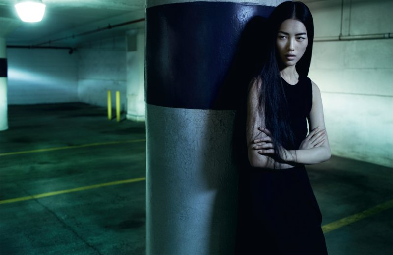 Liu Wen in Emporio Armani by Sharif Hamza for AnOther F/W 2011