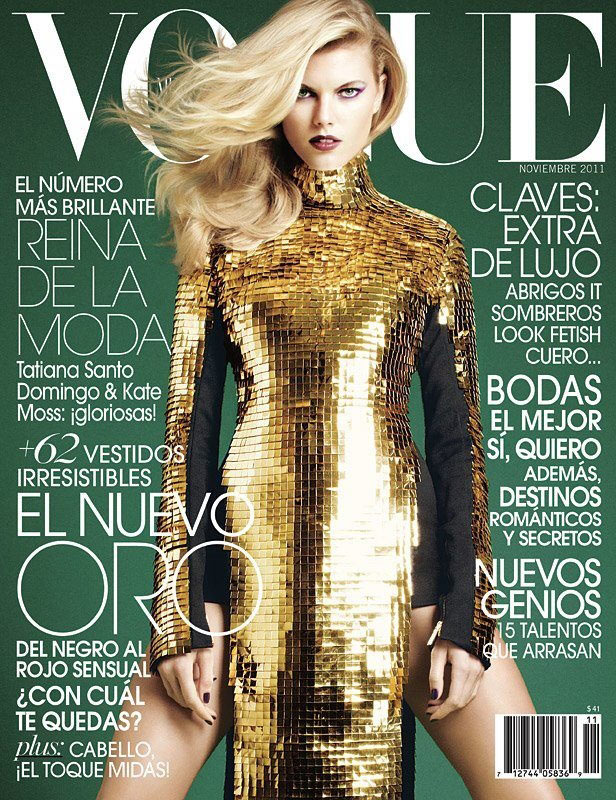 Vogue Mexico November 2011 Cover | Maryna Linchuk by David Roemer