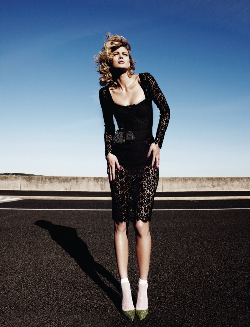 Michelle Buswell in Dolce & Gabbana by Simon Lekias for Harper's Bazaar Singapore November 2011