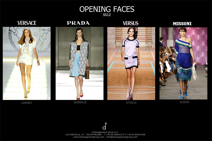 Milan Fashion Week Opening Faces - d'management group
