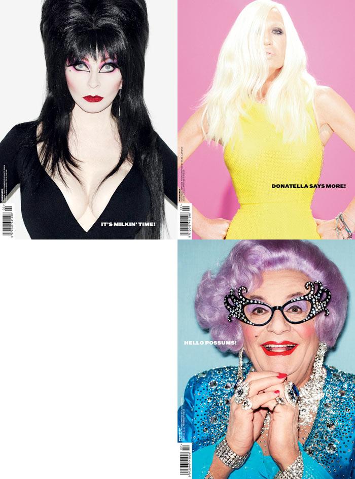 Ponystep #2 F/W 2011 Covers | Donatella Versace, Elvira & Dame Edna