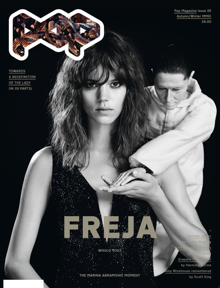 POP F/W 2011 Cover | Freja Beha Erichsen & Georgia May Jagger