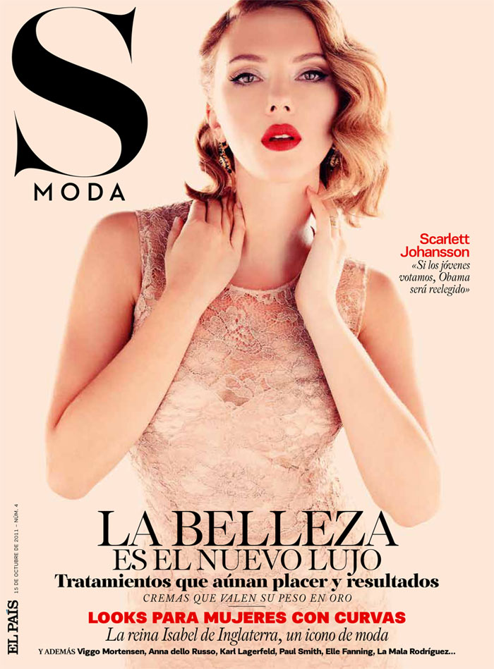 Scarlett Johansson Covers S Moda October 2011 in Dolce & Gabbana