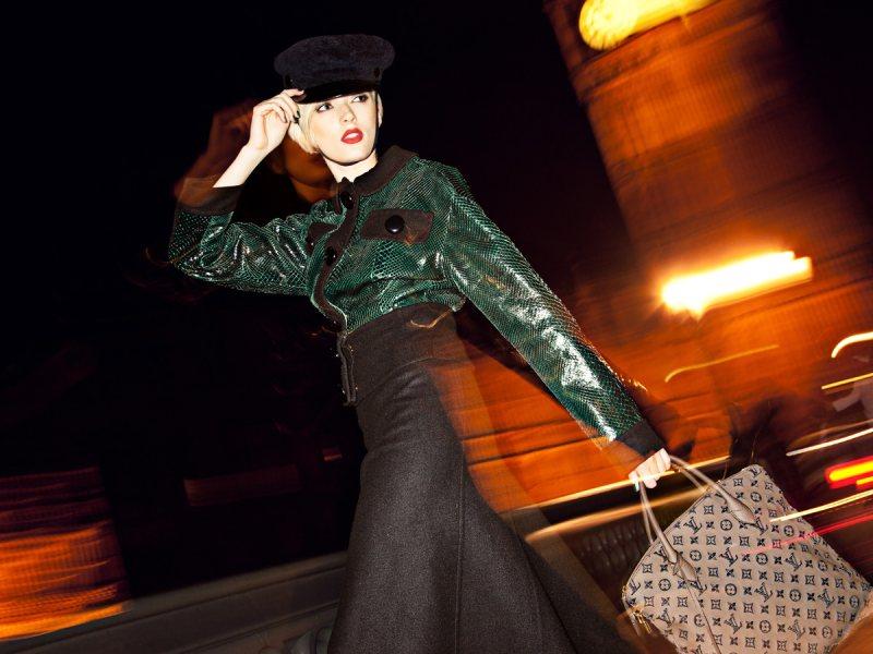 Sophie Sumner in Louis Vuitton by Dennison Bertram for Marie Claire Czech