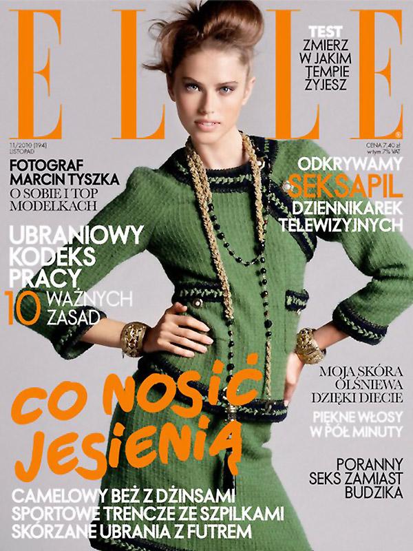 Elle Poland November 2010 Cover | Taryn Davidson by Paul Empson