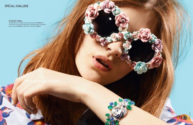 Amber Anderson by Simon Burstall for Elle France