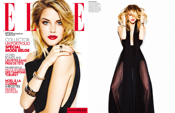 Ashley Smith by Hicham Riad for Elle Belgium December 2011