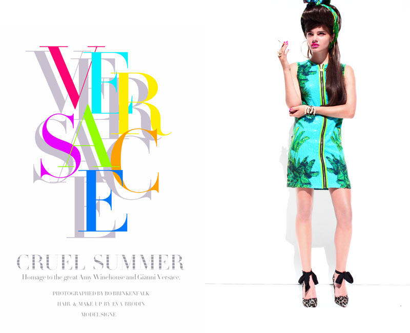Signe by Bo Brinkenfalk in Versace x H&M for Fashion Gone Rogue