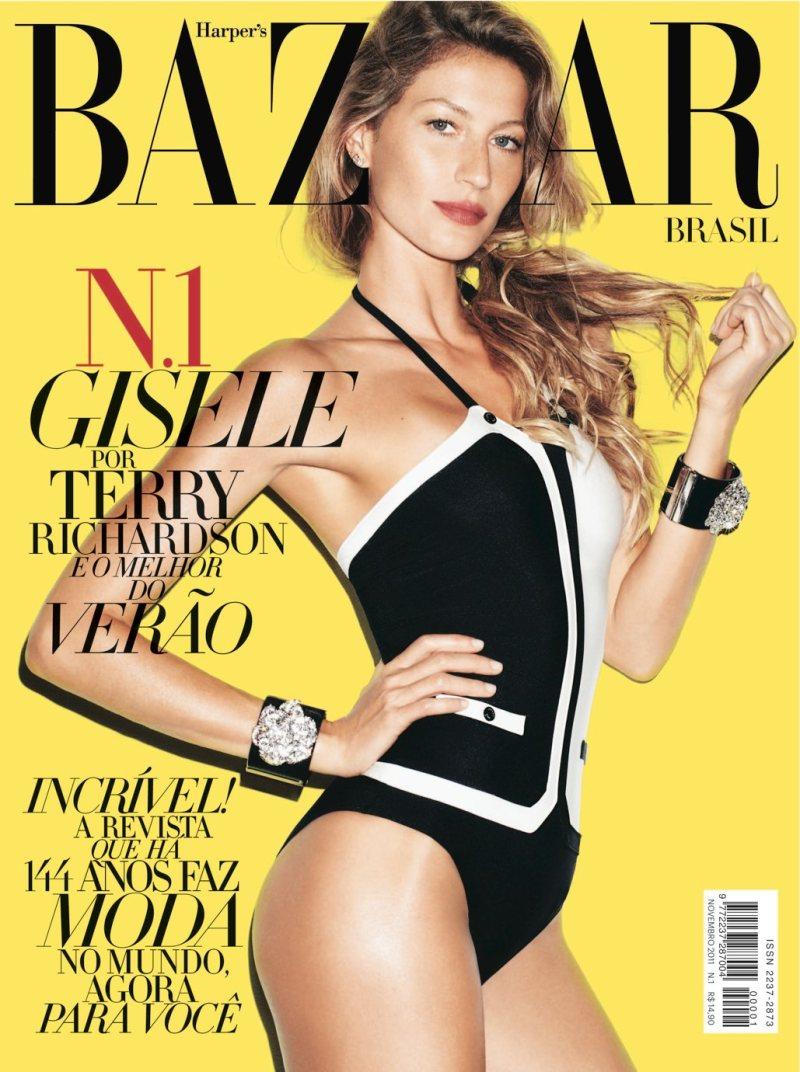 Gisele Bundchen by Terry Richardson for Harper's Bazaar Brazil November 2011 (Cover)