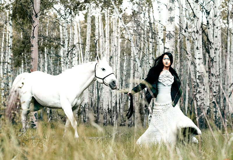 Hyoni Kang by Chris Nicholls for Flare December 2011