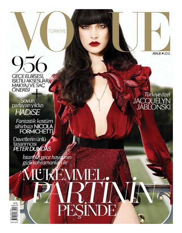 Vogue Turkey December 2011 Cover | Jacquelyn Jablonski by Matt Irwin