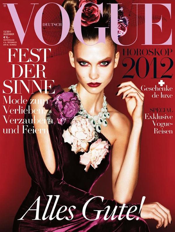 Karlie Kloss Covers Vogue Germany December 2011 in Ralph Lauren