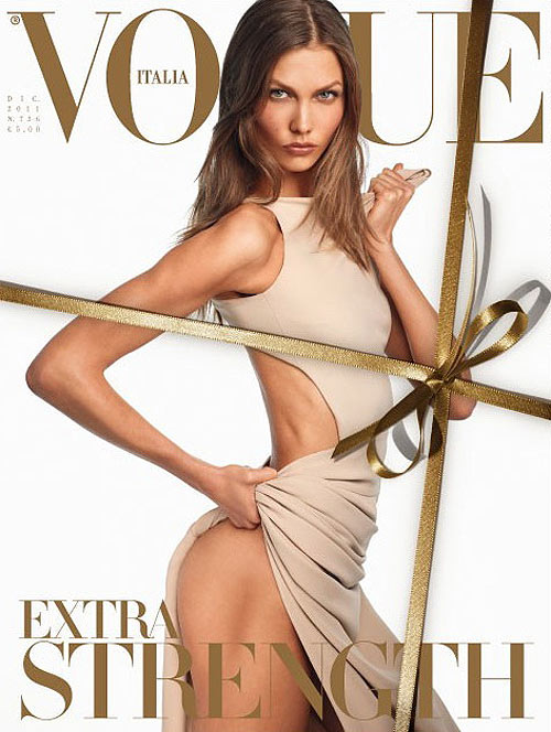Karlie Kloss proves to have quite the desirable physique in the cover story of Vogue Italia by Steven Meisel.
