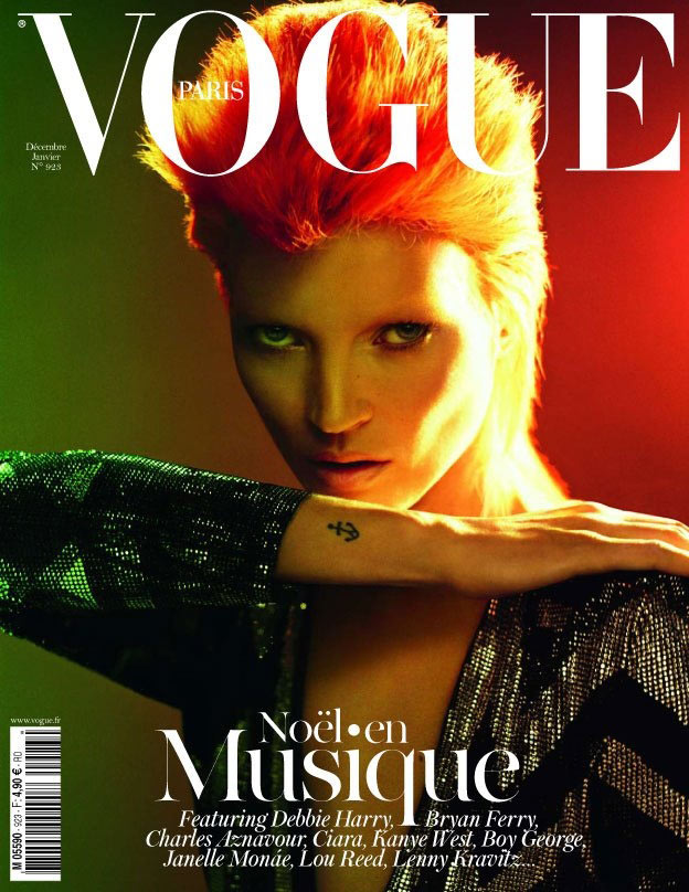 Vogue Paris December/January 2011.2012 Cover | Kate Moss by Mert & Marcus
