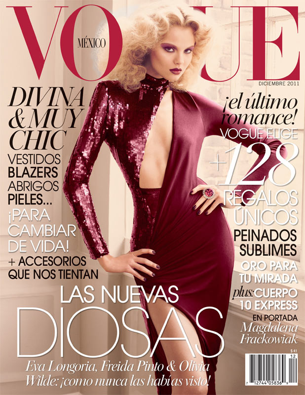 Magdalena Frackowiak Covers Vogue Mexico December 2011 in Emilio Pucci