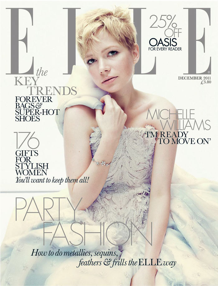Michelle Williams for Elle UK December 2011 by Alexei Hay (Cover)