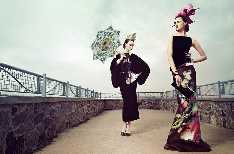 Rachel Alexander & Judith Bedard by RomanLeo for Mojeh