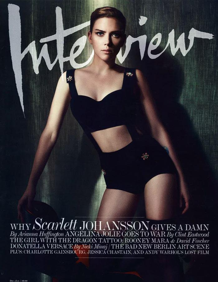 Scarlett Johansson by Sølve Sundsbø for Interview December/January 2011.2012 (Cover)