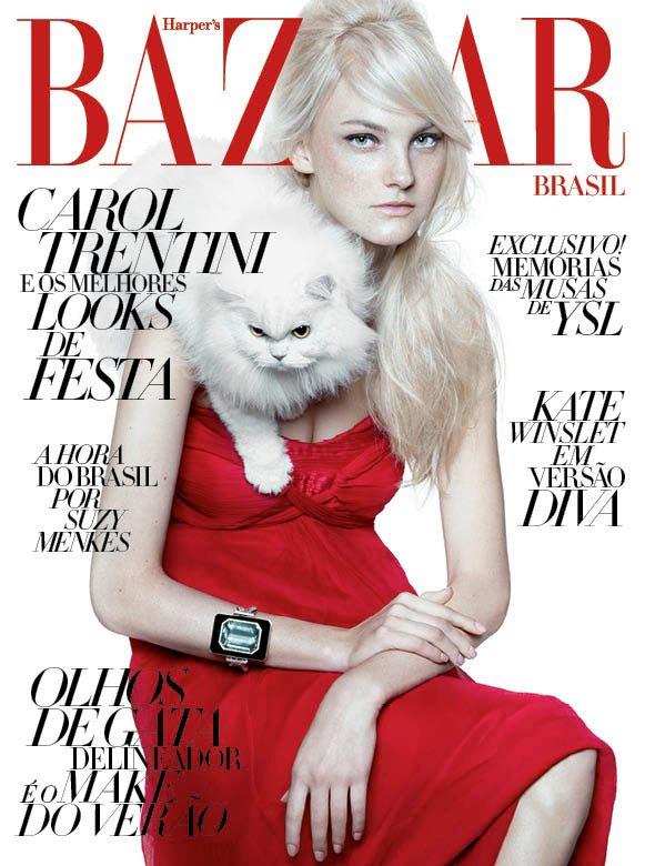 Harper's Bazaar Brazil December 2011 Cover   Caroline Trentini by Gui Paganini