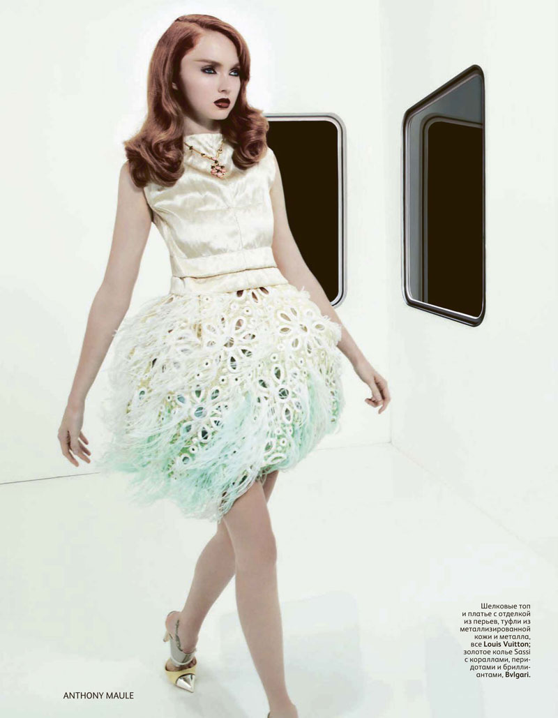 Lily Cole by Anthony Maule for Vogue Russia