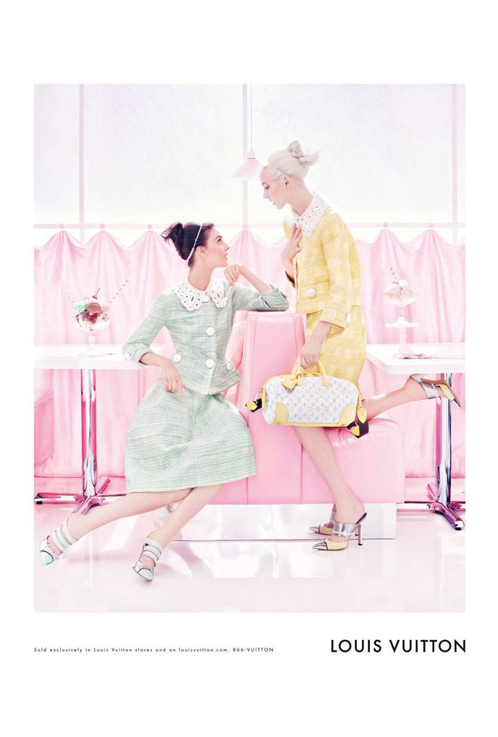 Daria Strokous & Kati Nescher for Louis Vuitton Spring 2012 Campaign by Steven Meisel