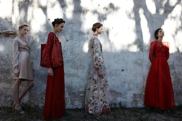 Zuzanna Bijoch, Bette Franke, Maud Welzen & Fei Fei Sun for Valentino Spring 2012 Campaign by Deborah Turbeville
