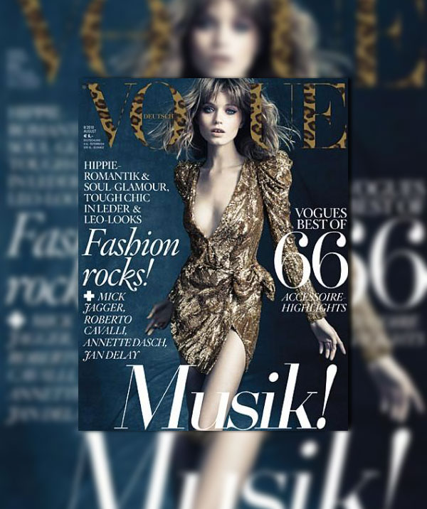 Vogue Germany August 2010 Cover   Abbey Lee Kershaw by Alexi Lubomirski