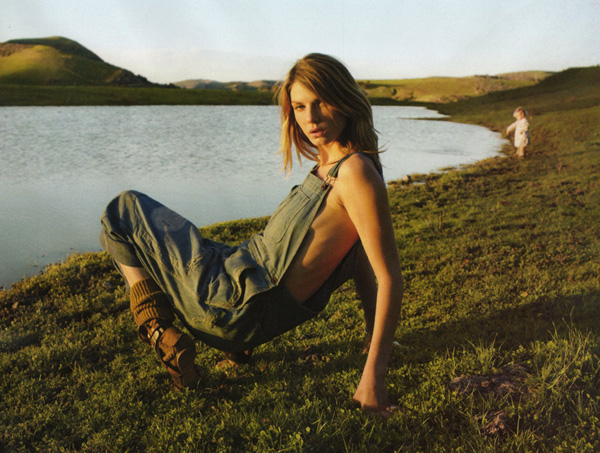 Angela Lindvall by Yelena Yemchuk in Big Country | Elle US May 2010