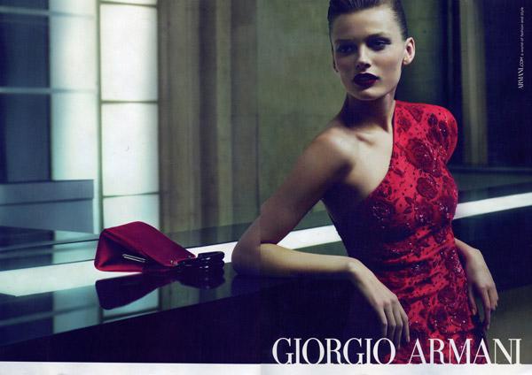 Giorgio Armani Fall 2010 Campaign Preview | Edita Vilkeviciute by Mert & Marcus