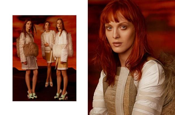 Balenciaga Fall 2010 Campaign | Freja Beha Erichsen, Karen Elson, & Stella Tennant by Steven Meisel