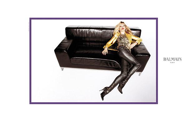 Balmain Fall 2010 Campaign Preview | Kate Moss by Inez & Vinoodh