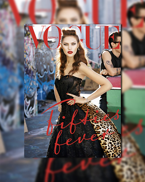 Vogue Australia September 2010 Cover | Catherine McNeil by Max Doyle