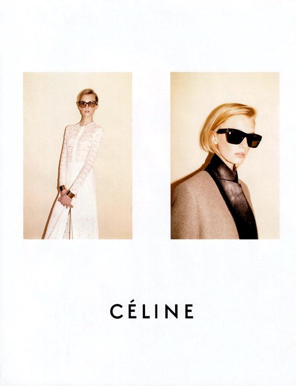 Céline Fall 2010 Campaign Preview   Sigrid Agren & Emma Balfour by Juergen Teller