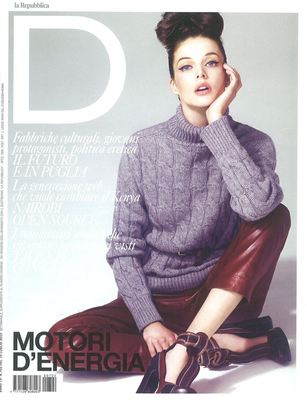 D La Repubblica July 10, 2010 Cover   Charon Cooijmans by Andrew Yee
