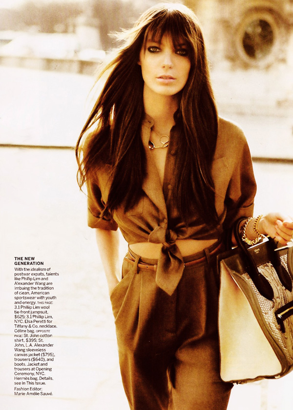 Daria Werbowy by Mario Testino | Vogue US May 2010